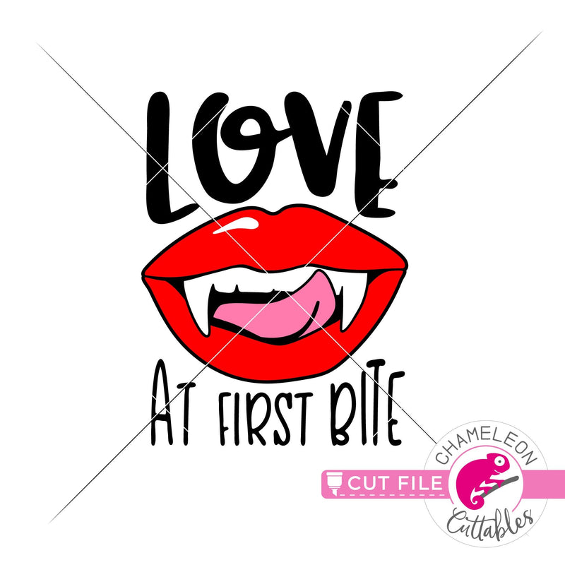 Love at first Bite Vampire Lips Halloween svg png dxf eps jpeg SVG DXF PNG Cutting File