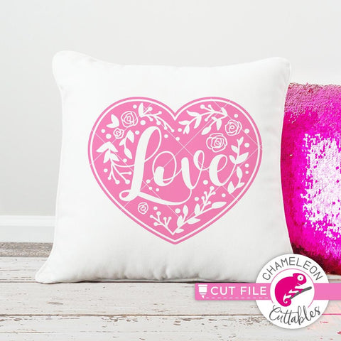 Love floral Heart svg png dxf eps
