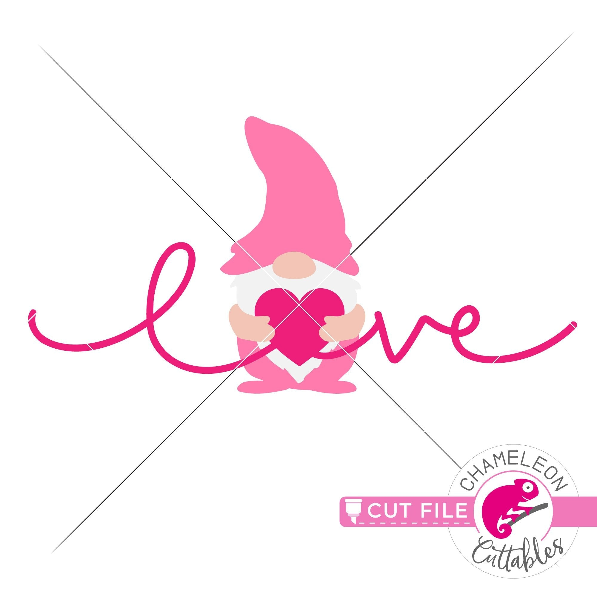 Love Gnome With Heart Valentine S Day Svg Png Dxf Eps Jpeg Chameleon Cuttables Llc