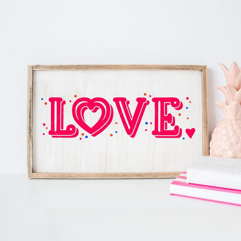 Love horizontal svg png dxf eps