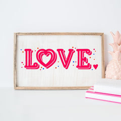 Love Horizontal Svg Png Dxf Eps Svg Dxf Png Cutting File