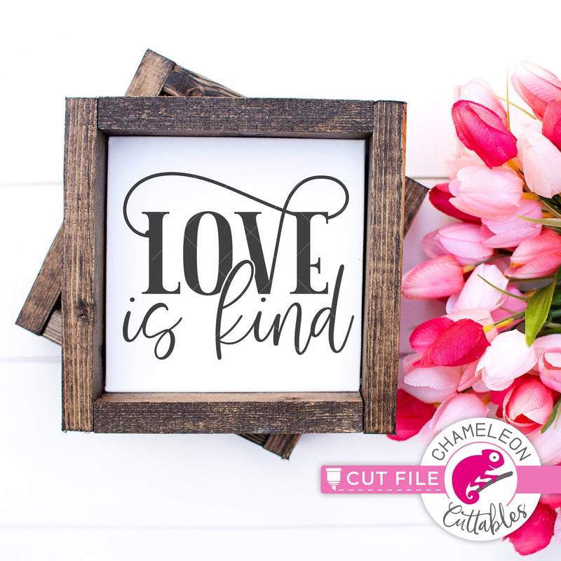 Love is kind Valentine's Day Wedding svg png dxf eps jpeg SVG DXF PNG Cutting File