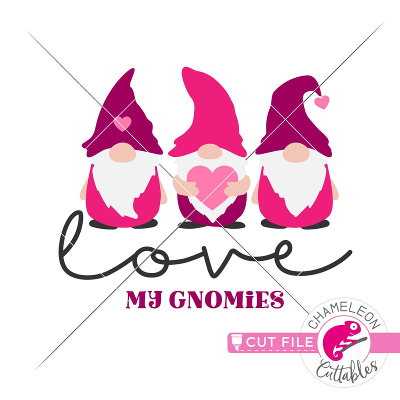Love my gnomies gnome Valentines day svg png dxf eps jpeg SVG DXF PNG Cutting File