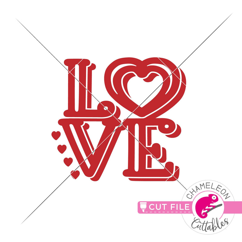 Love square svg png dxf eps SVG DXF PNG Cutting File