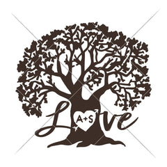 Love Tree Svg Png Dxf Eps Svg Dxf Png Cutting File