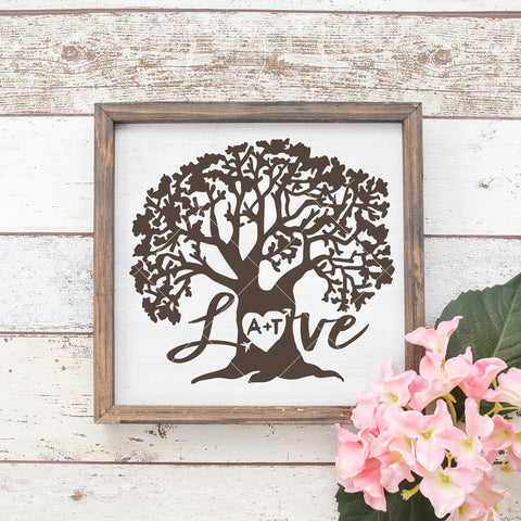 Love Tree svg png dxf eps