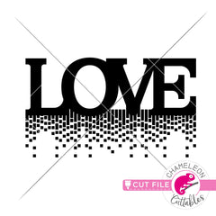 Love waterfall Valentines day svg png dxf eps jpeg SVG DXF PNG Cutting File