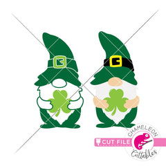Lucky Gnomes St. Patricks Day svg png dxf eps jpeg SVG DXF PNG Cutting File