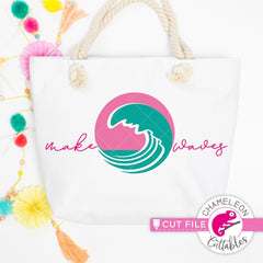 Make waves ocean wave circle beach svg png dxf eps jpeg SVG DXF PNG Cutting File