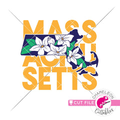 Massachusetts state flower mayflower square svg png dxf eps jpeg SVG DXF PNG Cutting File
