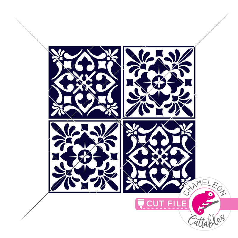 Mediterranean tiles svg png dxf eps jpeg SVG DXF PNG Cutting File