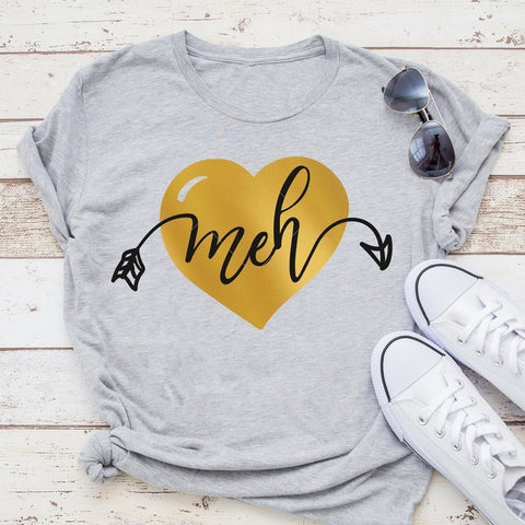 Meh Heart layered svg png dxf eps