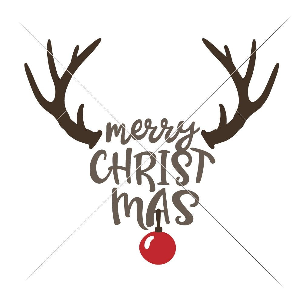 Merry Christmas Ornament Svg.Merry Christmas Deer With Ornament Svg Png Dxf Eps