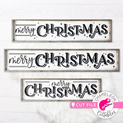 Merry Christmas horizontal svg png dxf SVG DXF PNG Cutting File