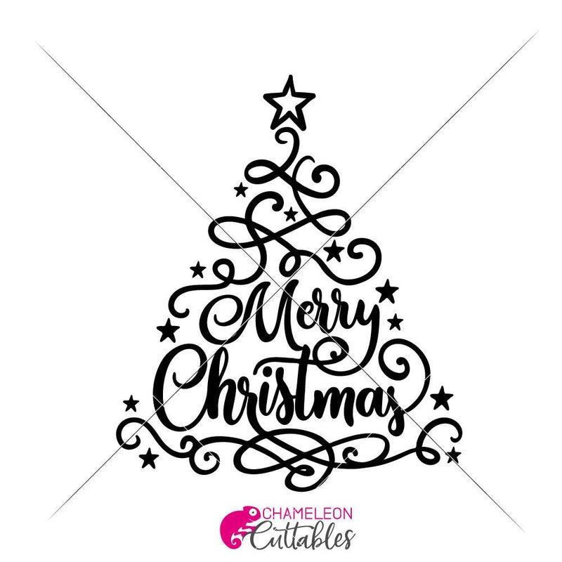 Merry Christmas Svg Png Dxf Eps Svg Dxf Png Cutting File