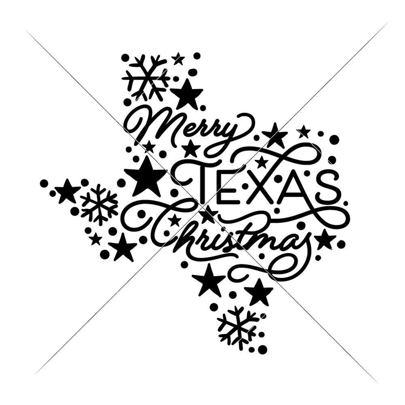 Merry Texas Christmas Svg Png Dxf Eps Svg Dxf Png Cutting File