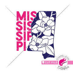 Mississippi state flower magnolia svg png dxf eps jpeg SVG DXF PNG Cutting File