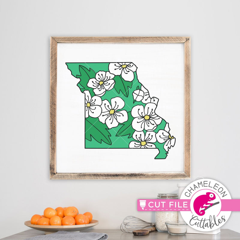 Missouri state flower hawthorn layered svg png dxf eps jpeg SVG DXF PNG Cutting File