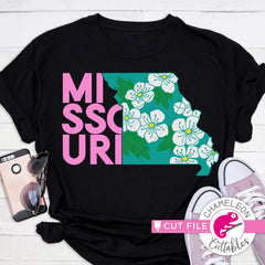 Missouri state flower hawthorn svg png dxf eps jpeg SVG DXF PNG Cutting File