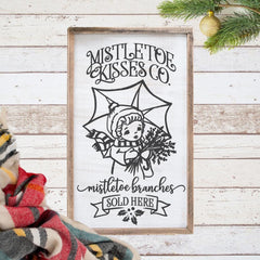 Mistletoe Kisses Co. Mistletoe Branches Sold Here Svg Png Dxf Eps Svg Dxf Png Cutting File
