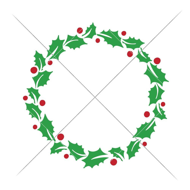 Mistletoe Wreath Svg Png Dxf Eps Svg Dxf Png Cutting File