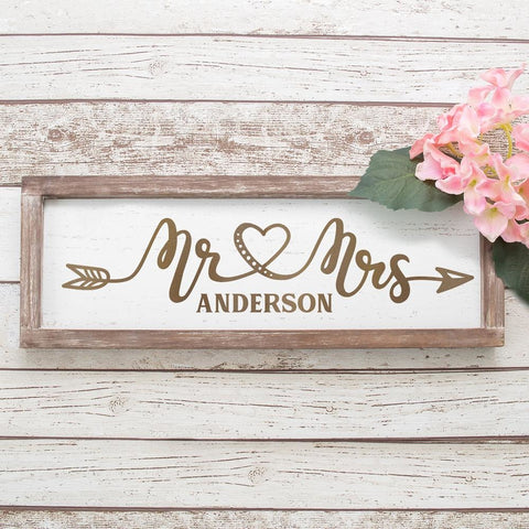 Mr and Mrs arrow Wedding sign svg png dxf eps