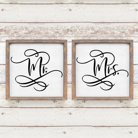Mr and Mrs Bride and Groom Wedding sign svg png dxf eps