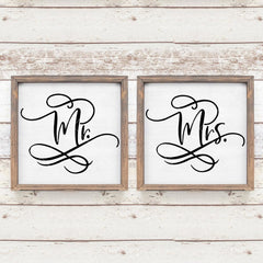 Mr And Mrs Bride And Groom Wedding Sign Svg Png Dxf Eps Svg Dxf Png Cutting File