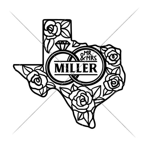 Mr and Mrs Wedding Design Texas svg png dxf eps