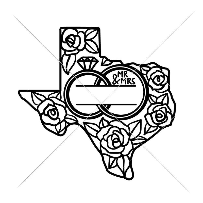 Mr And Mrs Wedding Design Texas Svg Png Dxf Eps Svg Dxf Png Cutting File