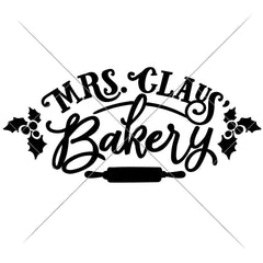 Mrs Claus Bakery Svg Png Dxf Eps Svg Dxf Png Cutting File