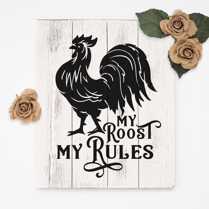 My roost my rules svg png dxf eps SVG DXF PNG Cutting File