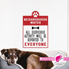 Neighborhood watch svg png dxf eps SVG DXF PNG Cutting File