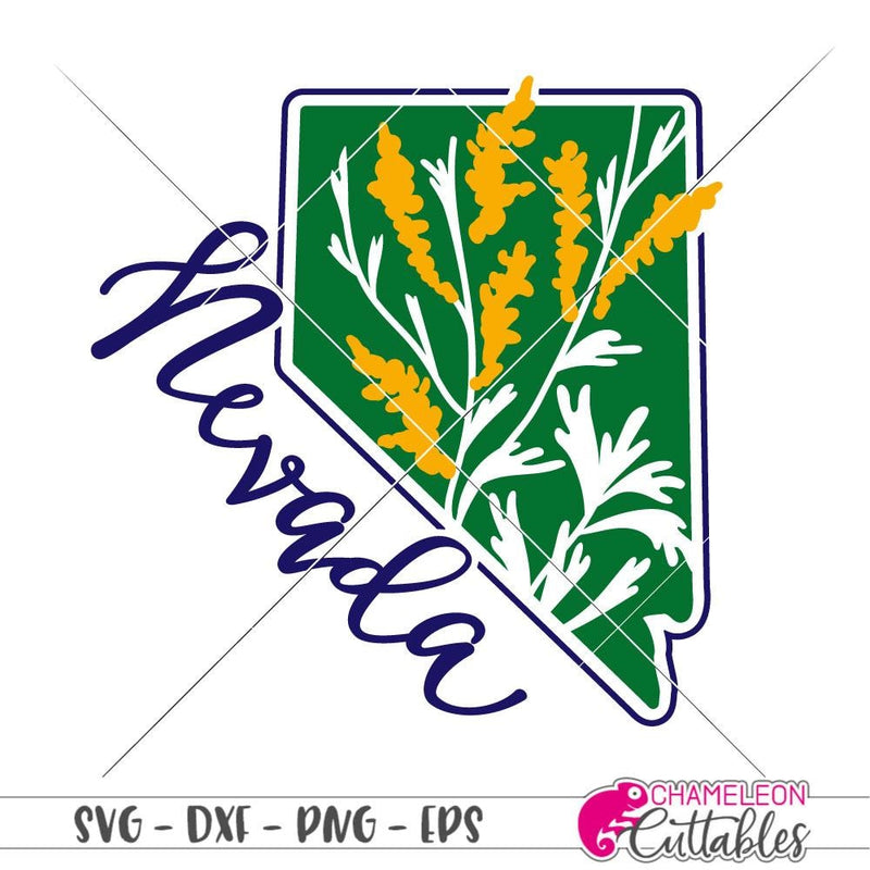 Nevada Sagebrush State Flower svg png dxf eps SVG DXF PNG Cutting File