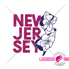 New Jersey state flower violet svg png dxf eps jpeg SVG DXF PNG Cutting File