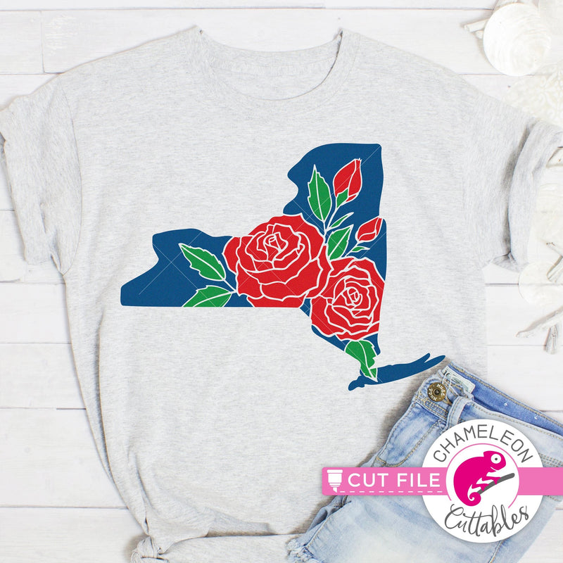 New York state flower rose svg png dxf eps jpeg SVG DXF PNG Cutting File