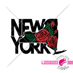 New York state flower svg png dxf eps jpeg SVG DXF PNG Cutting File