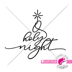 O holy night script svg png dxf eps jpeg SVG DXF PNG Cutting File