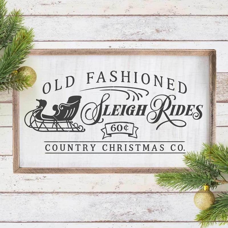 Old Fashioned Sleigh Rides Horizontal Svg Png Dxf Eps Svg Dxf Png Cutting File