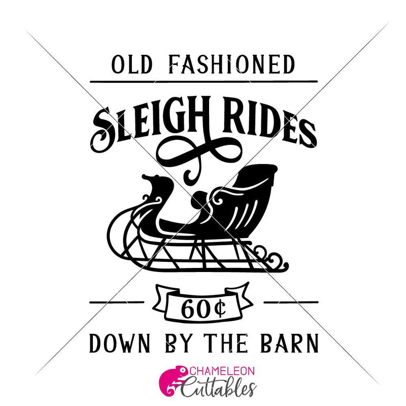 Old Fashioned Sleigh Rides Vertical Svg Png Dxf Eps Svg Dxf Png Cutting File