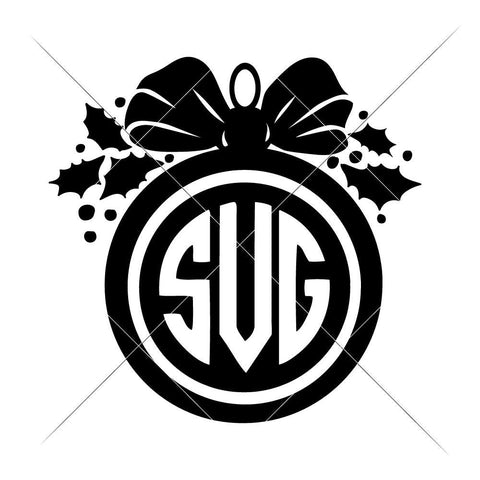 Ornament for Monogram svg png dxf eps