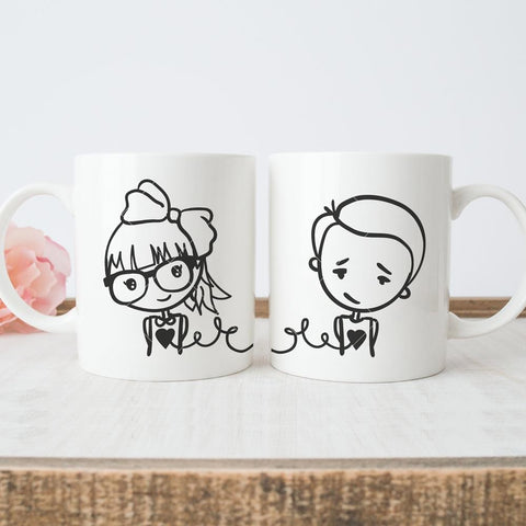 Our hearts are connected for Friendship mugs svg png dxf