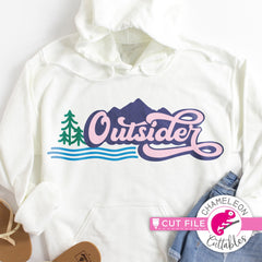Outsider retro outdoors layered svg png dxf eps jpeg SVG DXF PNG Cutting File
