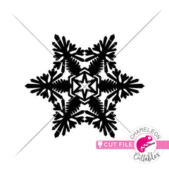 Paper Snowflake svg png dxf eps jpeg SVG DXF PNG Cutting File