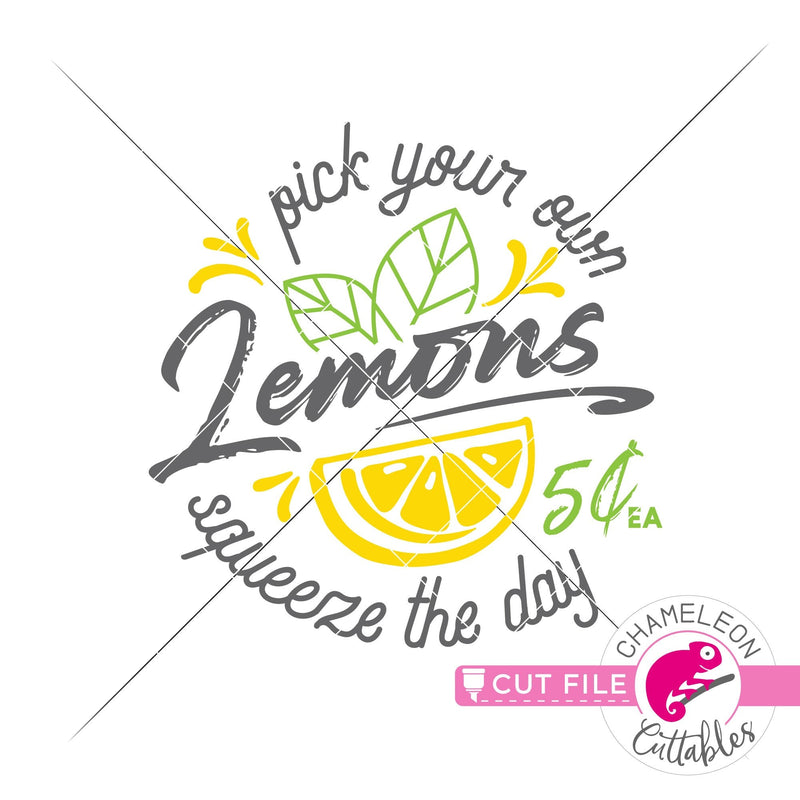 Pick your own Lemons Summer svg png dxf eps jpeg SVG DXF PNG Cutting File