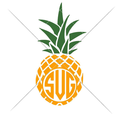 Pineapple for Monogram svg png dxf eps