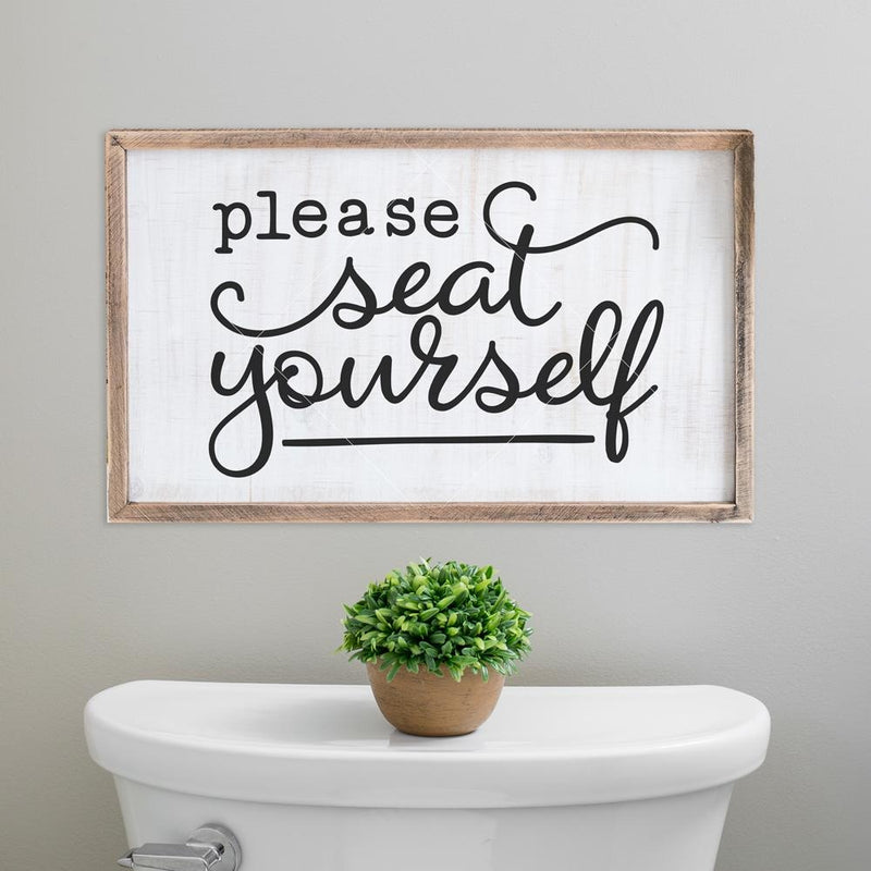 Please seat yourself svg png dxf eps SVG DXF PNG Cutting File