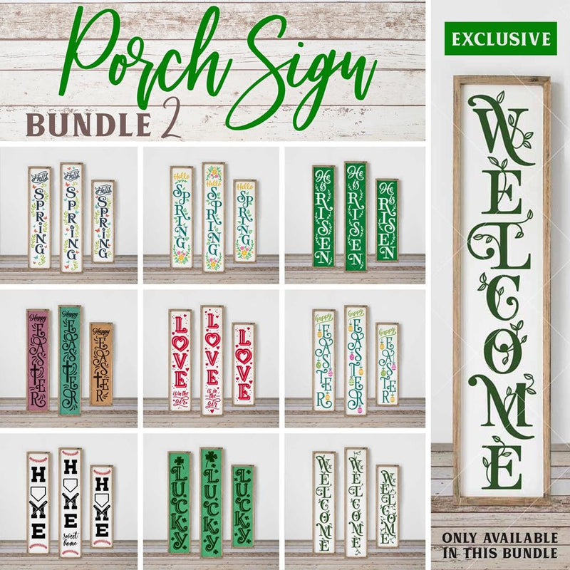 Porch Sign Bundle 2 Svg Dxf Png Cutting File
