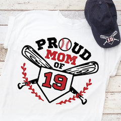Proud Baseball Mom jersey number svg png dxf eps SVG DXF PNG Cutting File