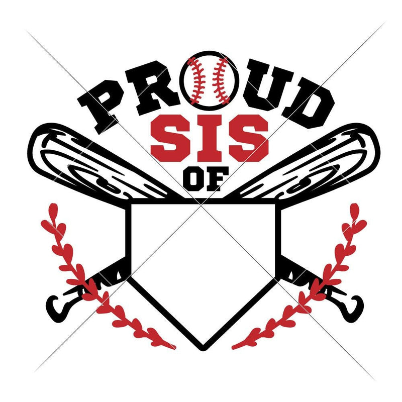 Proud Baseball Sister jersey number svg png dxf eps SVG DXF PNG Cutting File